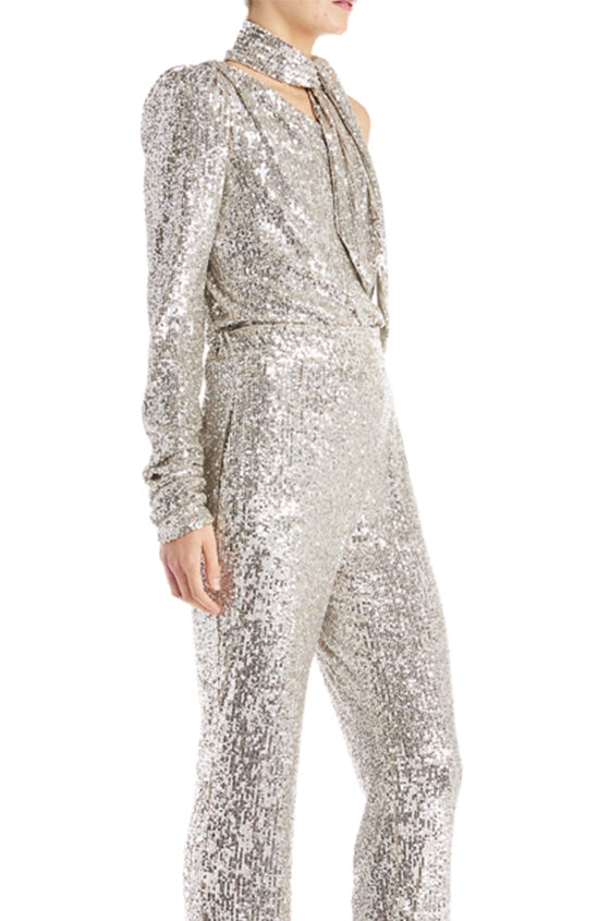 Sequin One Sleeve Bodysuit