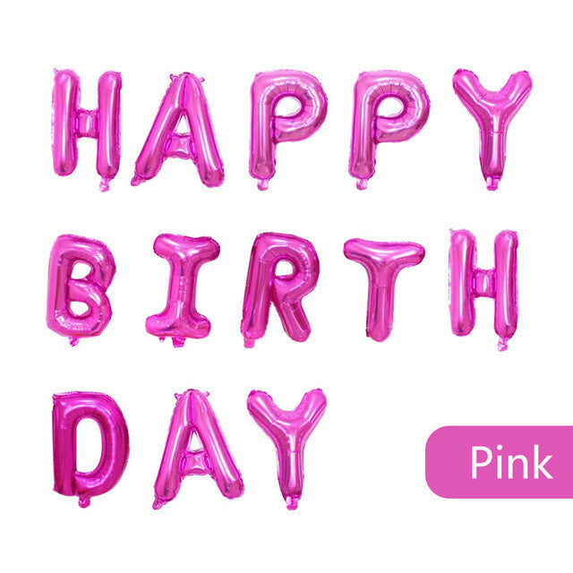 Pink Happy Birthday Letter Balloons.Foil Balloons Happy Birthday Letter Inflatable Balloons