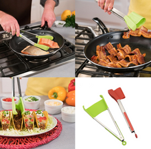 Load image into Gallery viewer, 2 in 1 Non-Stick Silicone Kitchen Spatula Tongs