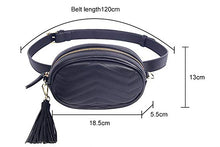 Load image into Gallery viewer, Leather Fanny Pack / Waist Bag For Women (With Belt)