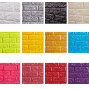 3D DIY Brick Wall Stickers