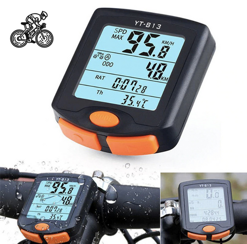 Bicycle Waterproof Speedometer- Bike/Cycling Wireless Computer With Backlit Display