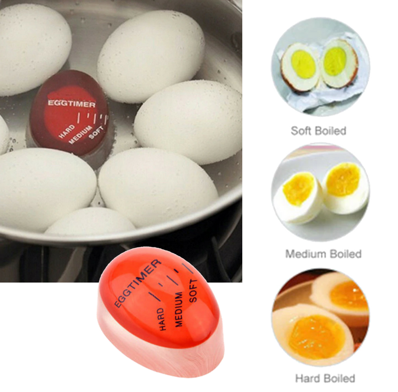 Eggs Color Changing Timer, For Perfect Cooked Boiled Eggs. For Kitchen, Eco-Friendly.