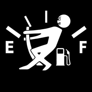 Funny High Gas Consumption Sticker - Fuel Tank