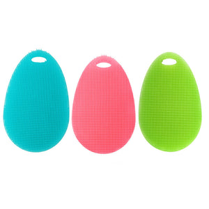 Silicone Dish Washing Sponge Scrubber Kitchen Cleaning