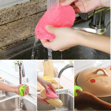 Load image into Gallery viewer, Silicone Dish Washing Sponge Scrubber Kitchen Cleaning