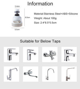 Universal 360° Moveable Kitchen Tap Head