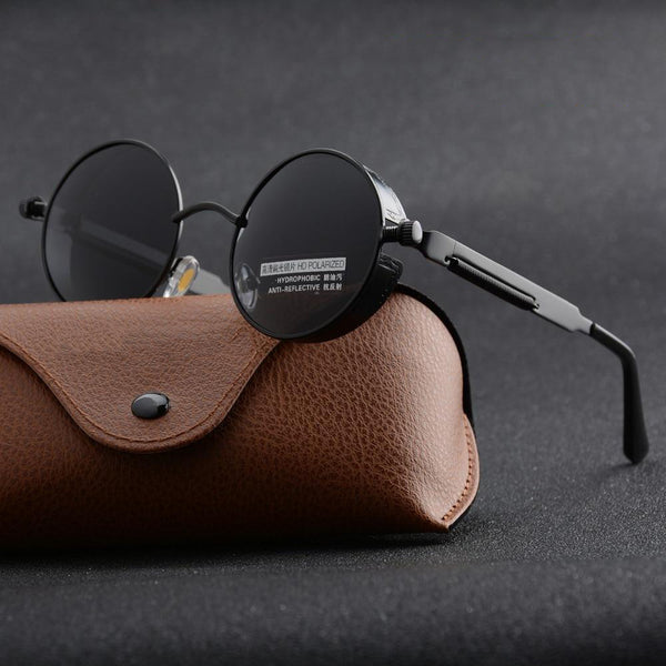 Unisex UV400 Retro Vintage Shield Gothic Steampunk Sunglasses-Steampunk Sunglasses-Junaizo.com