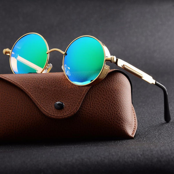 Unisex Metal Polarized Retro Vintage Gothic Steampunk Sunglasses-Steampunk Sunglasses-Junaizo.com