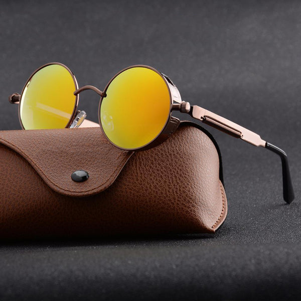 Unisex Retro Vintage Shield Polarized Gothic Steampunk Sunglasses-Steampunk Sunglasses-Junaizo.com