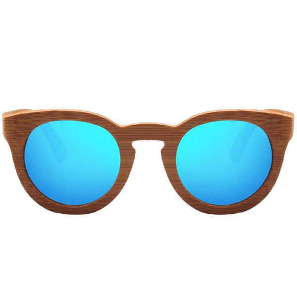 Women's Polarized UV400 Protection Wooden Frame Sunglasses-Wooden Glasses-Junaizo.com