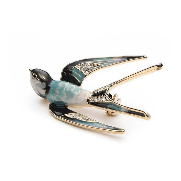 Unisex High Quality Zinc Alloy Metal Enamel Swallow Bird Brooch Pin-Animal Brooches-Junaizo.com