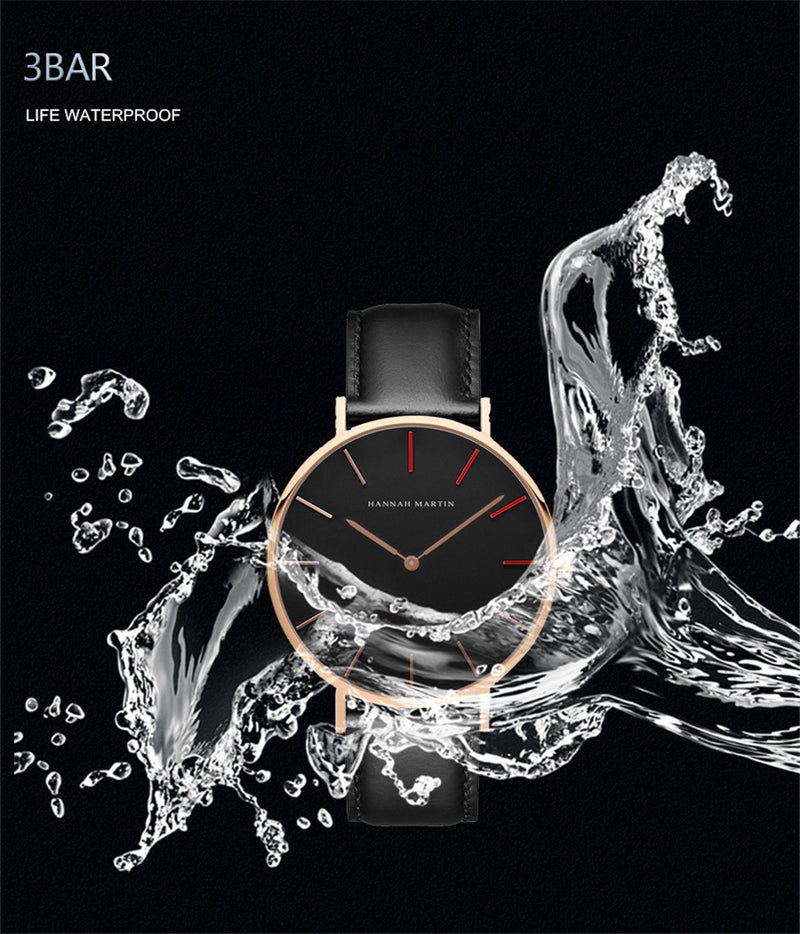 Men's Ultra Thin Japan Quartz Movement Waterproof Wristwatch-Men's Quartz Watches-Junaizo.com