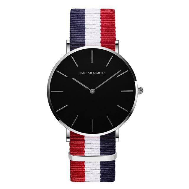 Men's Japan Quartz Movt Simple Waterproof Nylon Band Wristwatch-Men's Quartz Watches-Junaizo.com