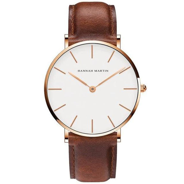 Men's New Leather Strap Waterproof Japan Quartz Movt Wristwatch-Men's Quartz Watches-Junaizo.com