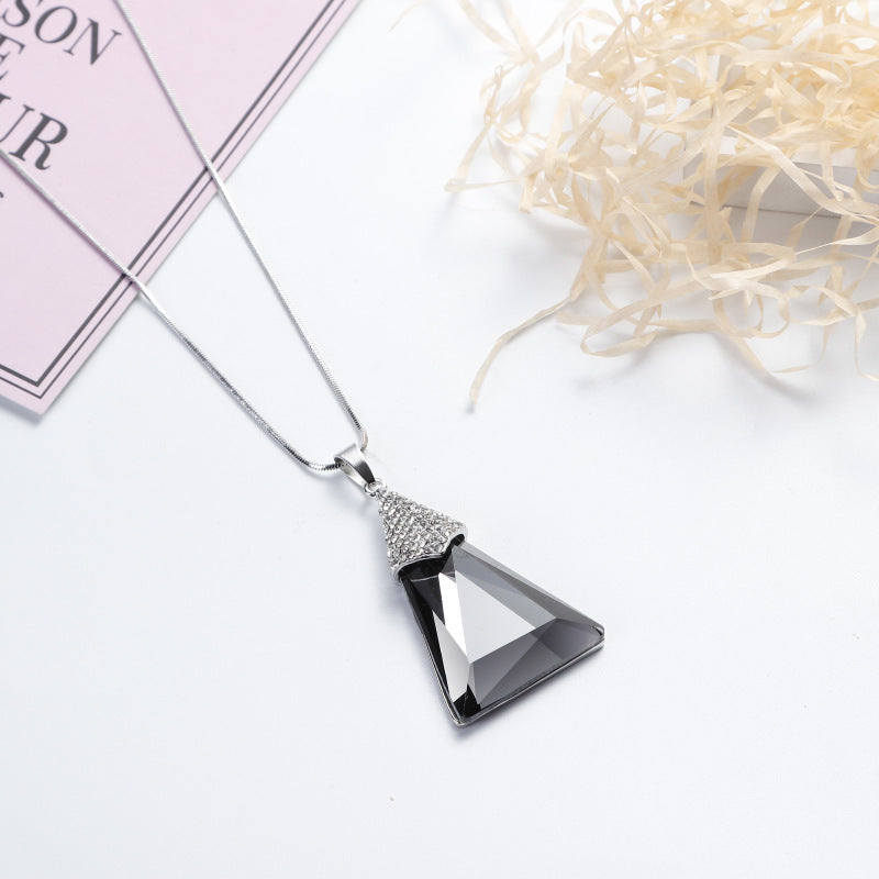 Women's New Geometric Shape Link Chain Long Pendant Necklace-Fashion Necklaces-Junaizo.com