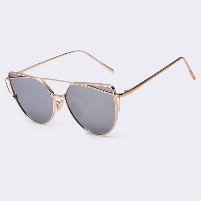 Women's Popular Brand Designer Polarized Cat Eye Sunglasses-Cat Eyes-Junaizo.com