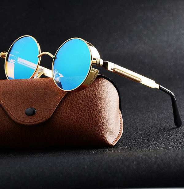 Unisex Polarized Vintage Side Shield Gothic Steampunk Sunglasses-Steampunk Sunglasses-Junaizo.com