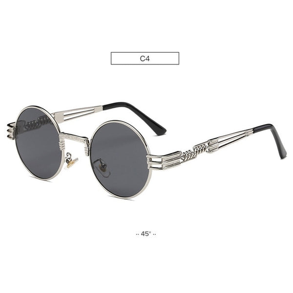 Unisex Vintage Coating Mirrored John Lennon Steampunk Sunglasses-Steampunk Sunglasses-Junaizo.com