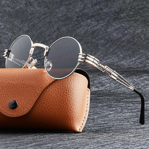 Unisex Round Coating Mirrored John Lennon Steampunk Sunglasses-Steampunk Sunglasses-Junaizo.com