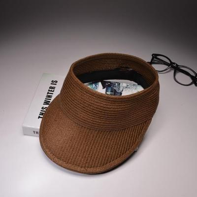 Women's Anti-UV Visor Wide Brimmed Floppy Summer Beach Sun Hat-Sun Hats-Junaizo.com