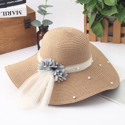 Women's Casual High Quality Solid Large Brimmed Floppy Sun Hat-Sun Hats-Junaizo.com