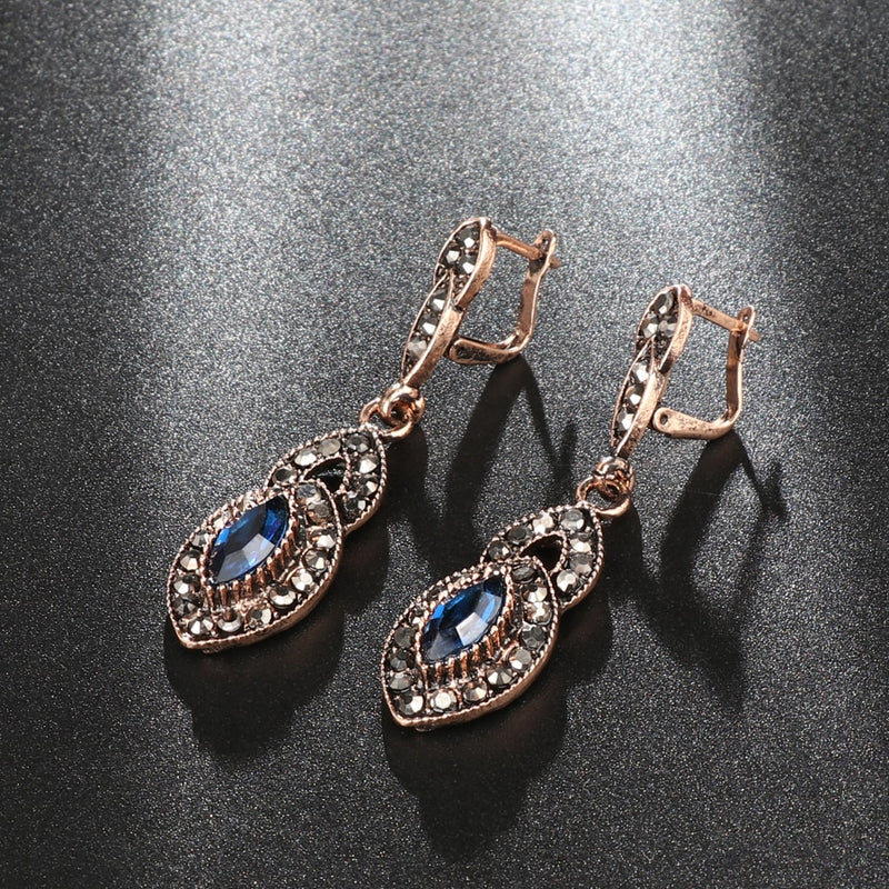 Women's New Vintage Style Antique Gold Color Gypsy Drop Earrings-Vintage Earrings-Junaizo.com