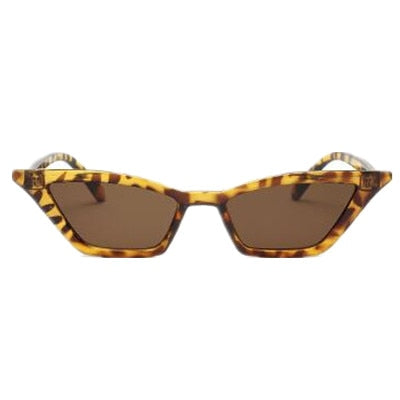 Women's Vintage Brand Designer Small Frame Cat Eye Sunglasses-Cat Eyes-Junaizo.com