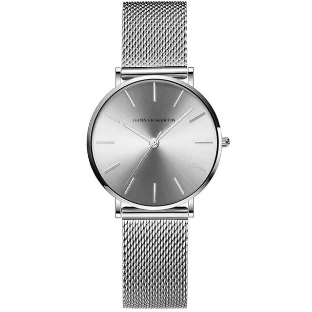 Women's Stainless Steel Mesh Strap Waterproof Quartz Wristwatch-Women's Quartz Watches-Junaizo.com
