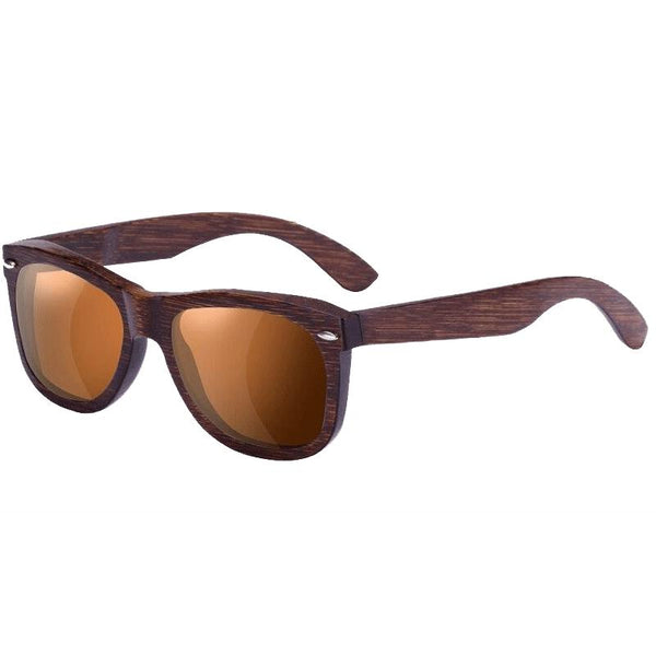 Unisex New Polarized UV400 Protection Wooden Frame Sunglasses-Wooden Glasses-Junaizo.com