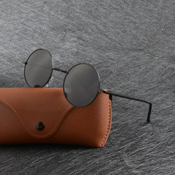 Unisex Vintage Anti-Reflective Round Polarized Steampunk Sunglasses-Steampunk Sunglasses-Junaizo.com