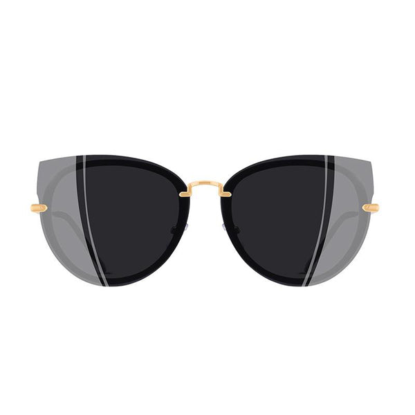 Women's Luxury Style Gradient Polarized Cat Eye Sunglasses-Cat Eyes-Junaizo.com