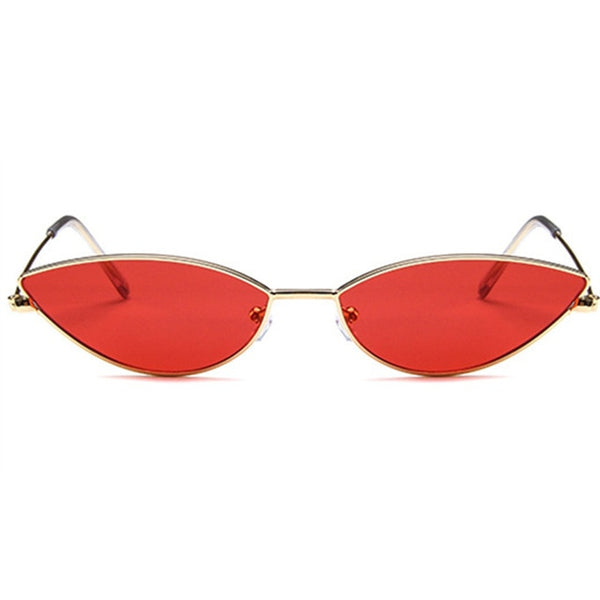 Women's Cute Brand Designer Retro Small Frame Cat Eye Sunglasses-Cat Eyes-Junaizo.com