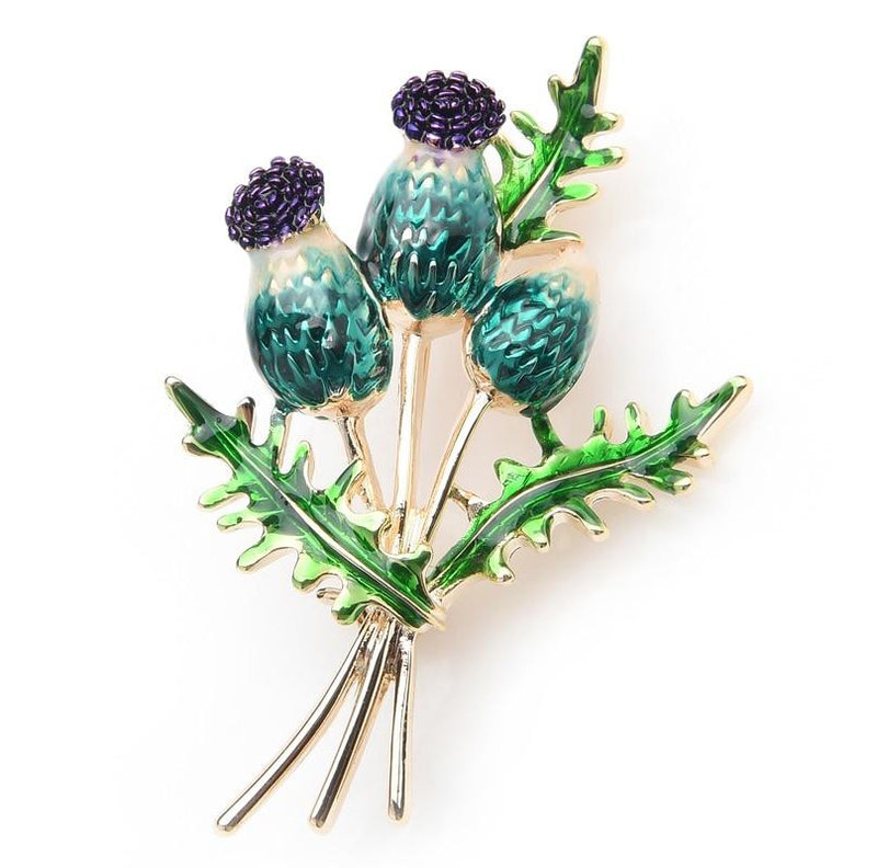 Unisex New Orange Blue Tulip Bouquet Flowers Enamel Brooch Pin-Plant Brooches-Junaizo.com