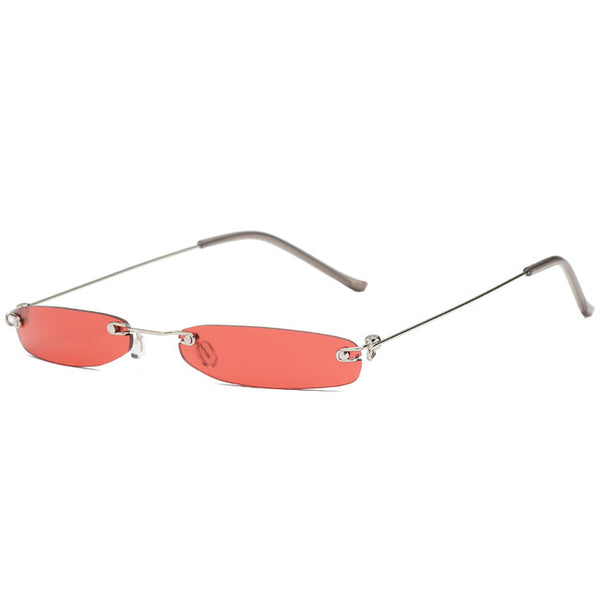 Women's High Quality Rimless Frame Retro Cat Eye Sunglasses-Cat Eyes-Junaizo.com