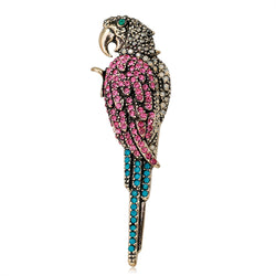 Unisex Trending High Quality Rhinestone Parrot Bird Brooch Pin-Animal Brooches-Junaizo.com