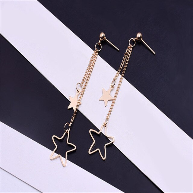 Women's Bohemian Style Gold Silver Plated Color Drop Earrings-Boho Earrings-Junaizo.com