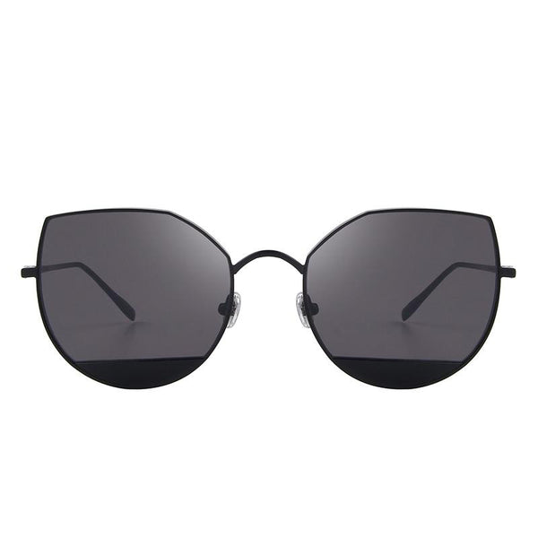 Women's New Anti Reflective Metal Frame Cat Eye Sunglasses-Cat Eyes-Junaizo.com