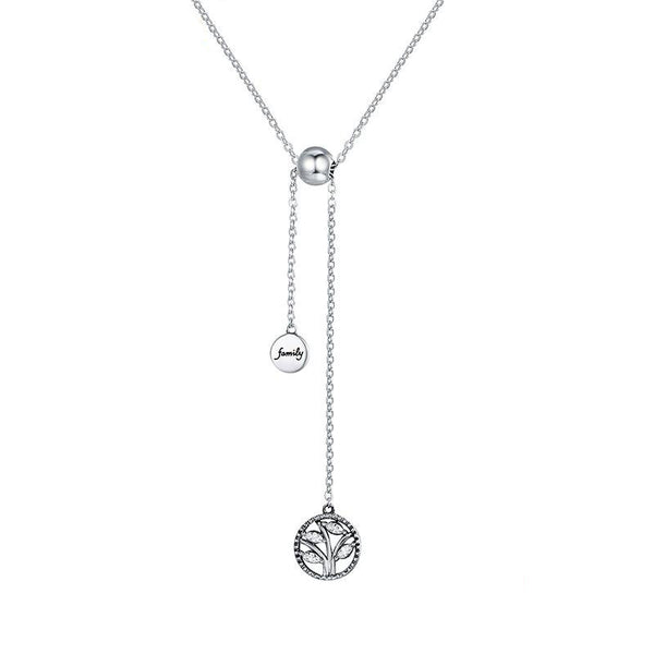 Women's 925 Sterling Silver Tree of Life Link Chain Pendant Necklace-Pendant Necklaces-Junaizo.com