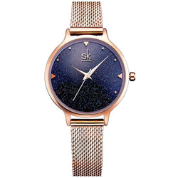 Women's Casual Style Round Shape Water Resistant Wristwatch-Women's Quartz Watches-Junaizo.com