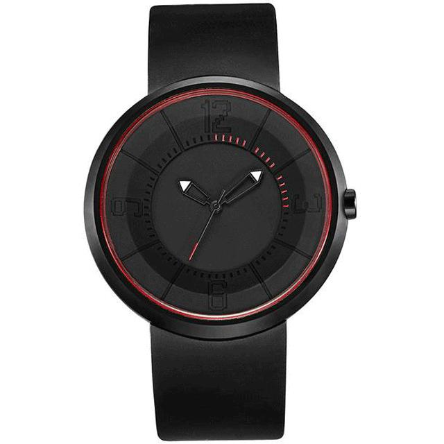 Men's Minimalist Style Waterproof Rubber Band Quartz Wristwatch-Men's Quartz Watches-Junaizo.com