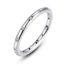 Women's 925 Sterling Silver Stackable Droplets Classic Ring-Silver Rings-Junaizo.com