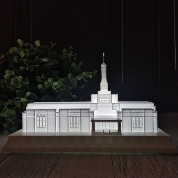 Montevideo Uruguay Temple Night Light