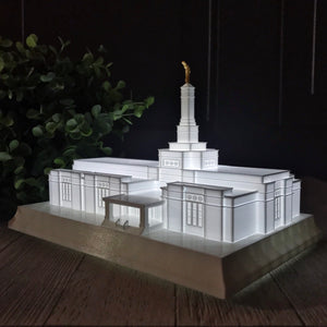 Villahermosa Mexico Temple Night Light