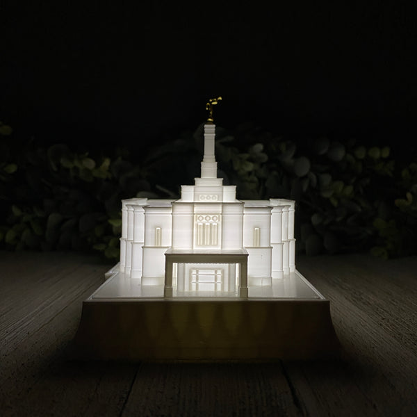 Snowflake Arizona Temple Night Light
