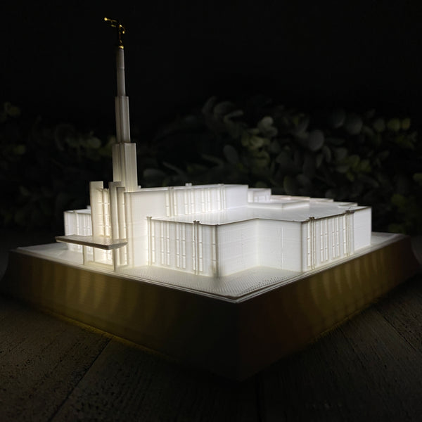 Atlanta Georgia Temple Night Light