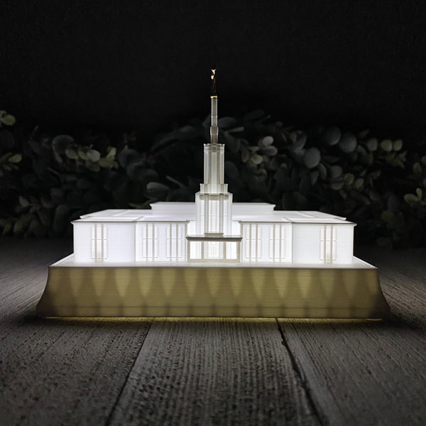 Santiago Chile Temple Night Light