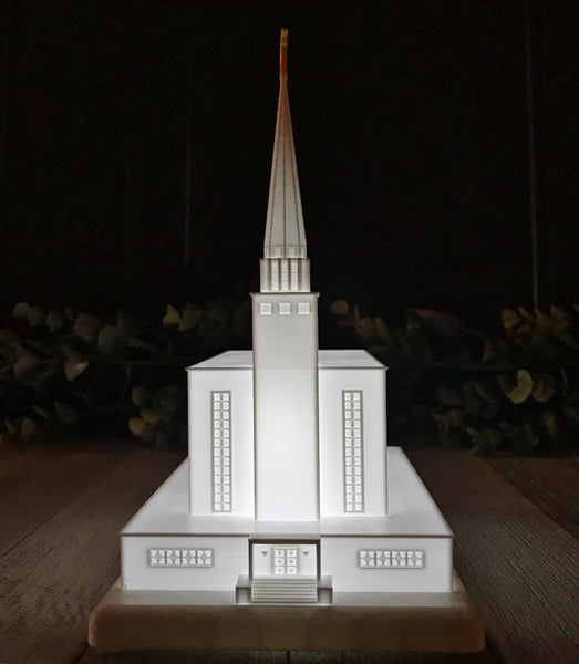 London England Temple Night Light