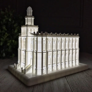 St. George Utah Temple Night Light