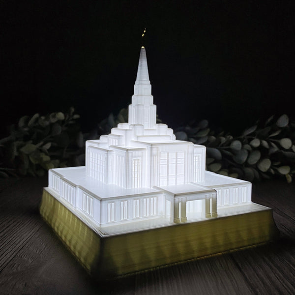 Ogden Utah Temple Night Light